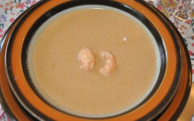 Humarsúpa : Soupe aux langoustines