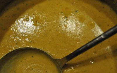 Soupe express aux lentilles corail